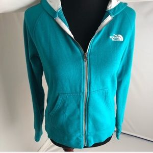 The North Face marine color full zip hoodie M